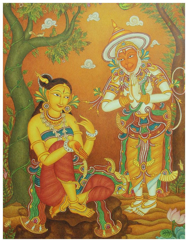 Sreeramadootham shopswasthi for Ananthasayanam mural painting